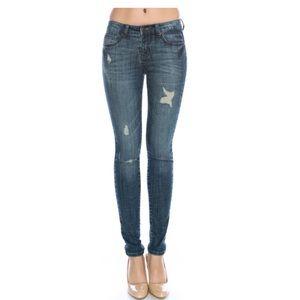 Scraped Skinny Jeans